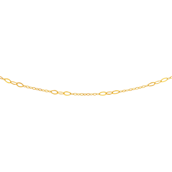 9ct 45cm Oval & Round Trace Chain