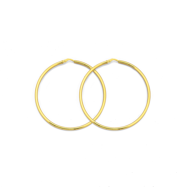 9ct 56mm Gold Hoops