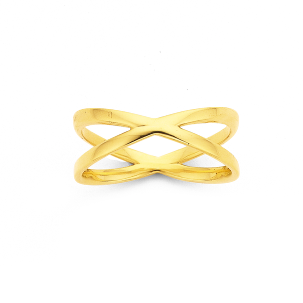 9ct Crossover Ring
