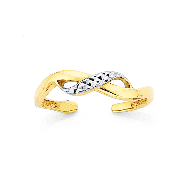 9ct Crossover Toe Ring