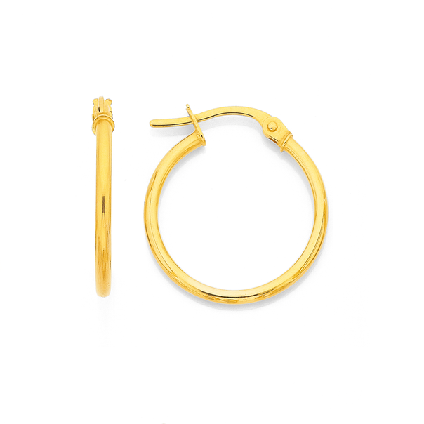 9ct Gold 18mm Hoops