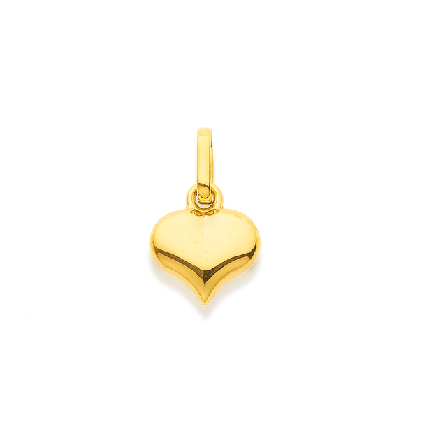 9ct Gold 8mm Heart Charm