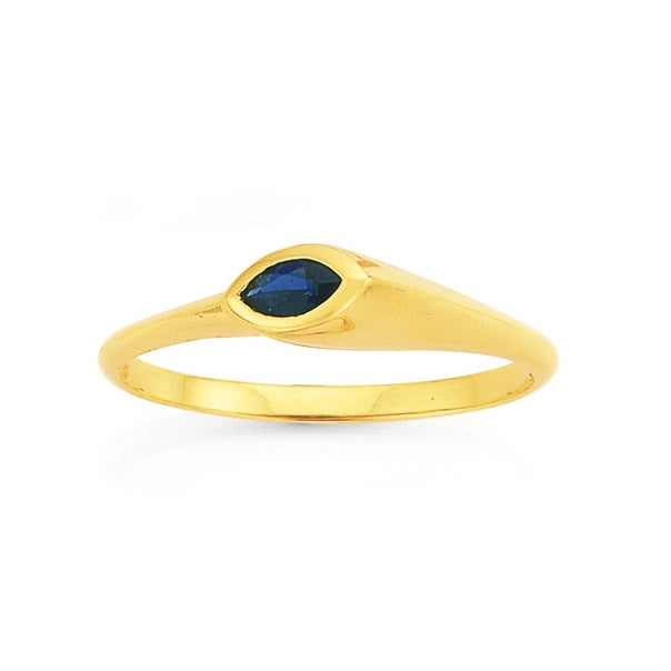 9ct Created Sapphire Ring