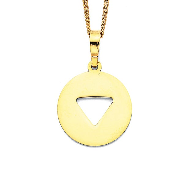 9ct Cut-Out Triangle Pendant