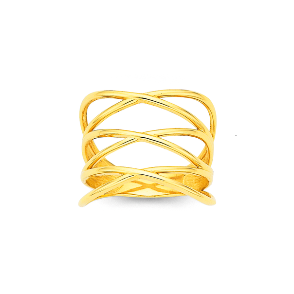9ct Laced Up Ring