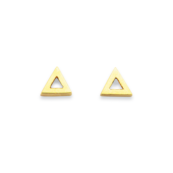 9ct Open Triangle Studs