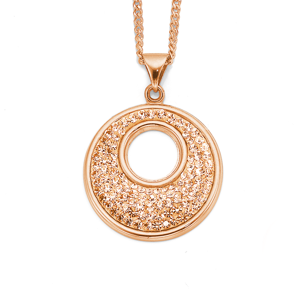 9ct Rose Gold Crystal Pendant