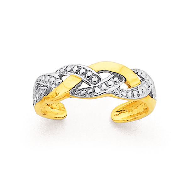 9ct Two Tone Toe Ring