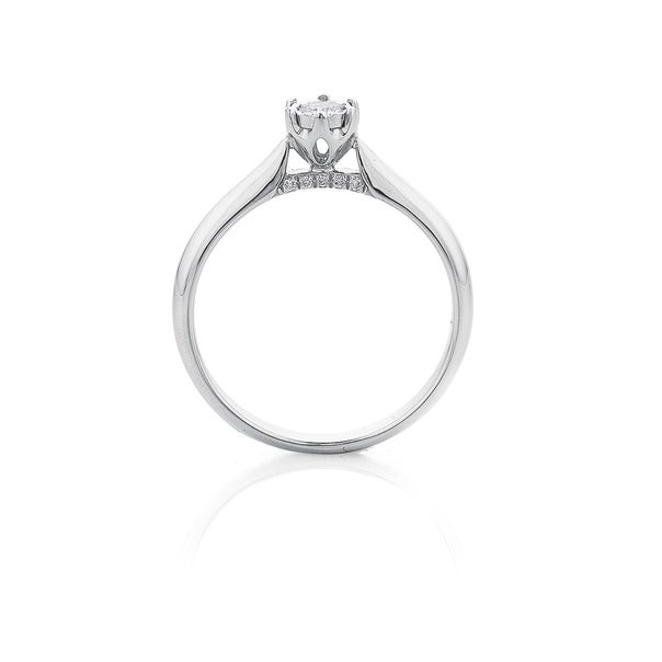 9ct White Gold Miracle Plate Setting Diamond Ring