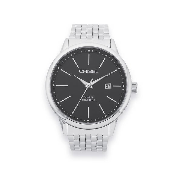 Chisel Mens Silver Tone Watch