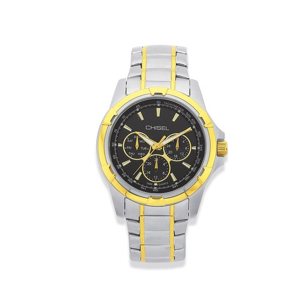 Chisel Mens Two Tone Watch