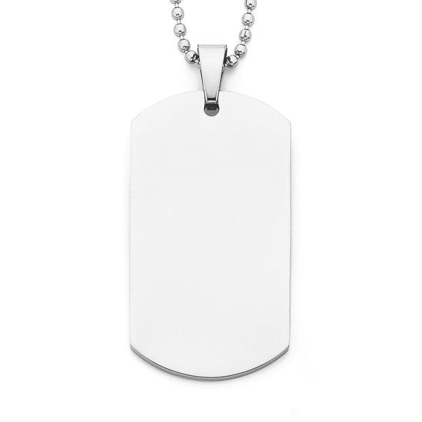 Chisel Stainless Dog Tag with Ball Chain