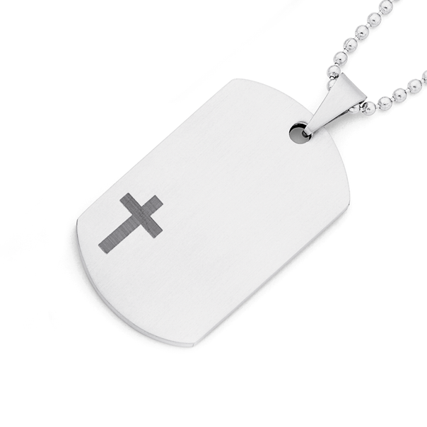 Chisel Stainless Steel Lords Prayer Pendant