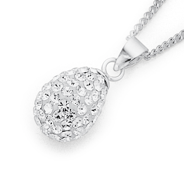 Crystal Pendant in Sterling Silver