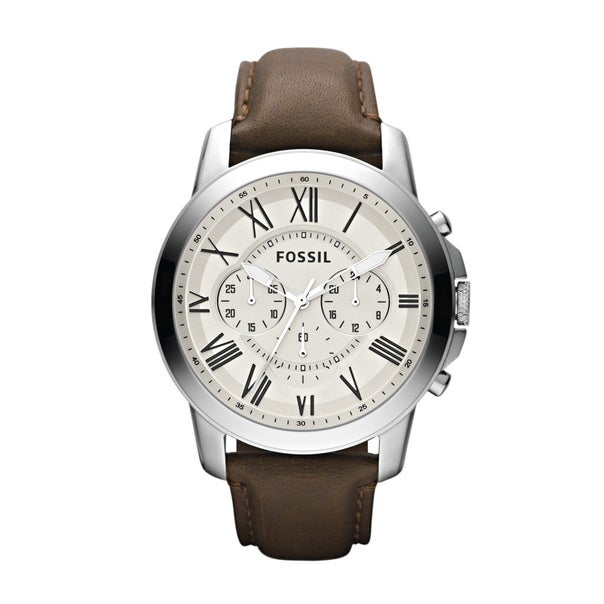 Fossil Gents Grant Chronograph Brown Leather Strap