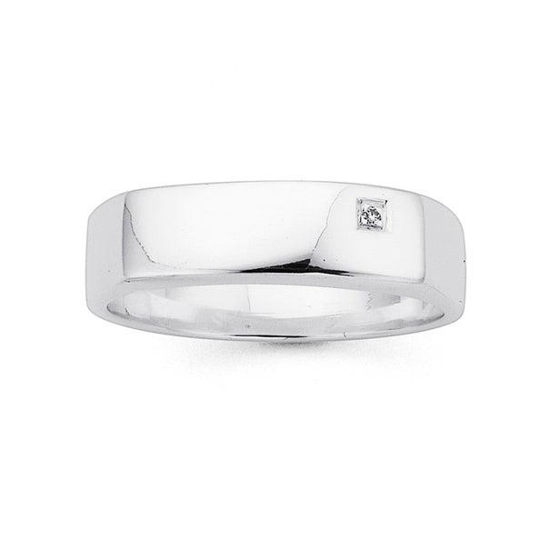 Gents Cubic Zirconia Ring in Sterling Silver
